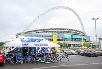 Picture by Alex Whitehead/SWpix.com - 16/05/2017 - Cycling - Tour Series Round 4, Wembley - Matrix Fitness Grand Prix - Team WMT warm up outside Wembley stadium.