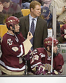 Mike Brennan, Greg Brown, Brian O'Hanley - The Boston University Terriers defeated the Boston College Eagles 2-1 in overtime in the March 18, 2006 Hockey East Final at the TD Banknorth Garden in Boston, MA.