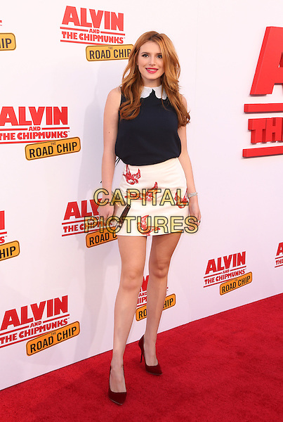 Los Angeles, CA - December 12 Bella Thorne Attending Premiere Of 20th Century Fox's &quot;Alvin And The Chipmunks: The Road Chip&quot; At The Zanuck Theater at 20th Century Fox Lot On December 12, 2015. <br /> CAP/MPI/FS<br /> &copy;FS/MPI/Capital Pictures
