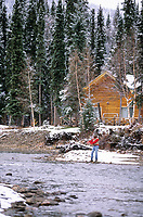 Fly fishing on the Chena river, Interior, Alaska.