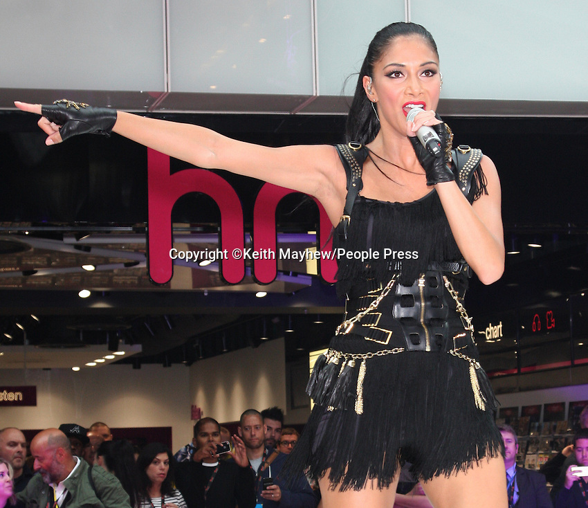 London - Nicole Scherzinger performs at the Grand Opening of Westfield Stratford City - the largest Shopping mall in Europe - September 13th 20110..Photo by Keith Mayhew