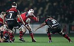 Johne Murphy of Munster Rugby looks to get past Tight-head prop Dan Way of Newport Gwent Dragons<br /> <br /> Guiness Pro 12<br /> Newport Gwent Dragons v Munster Rugby<br /> Rodney Parade<br /> 21.11.14<br /> &copy;Steve Pope-SPORTINGWALES