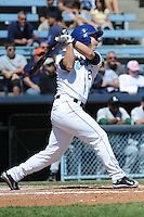 Asheville Tourists Corey Dickerson #23 swings at a pitch during a game against  the Lexington Legends at McCormick Field in Asheville,  North Carolina;  April 17, 2011. Lexington defeated Aheville 18-9.  Photo By Tony Farlow/Four Seam Images