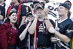 14 November 2004: DC United fans celebrate after the game. DC United defeated the Kansas City Wizards 3-2 to win MLS Cup 2004, Major League Soccer's championship game at the Home Depot Center in Carson, CA..