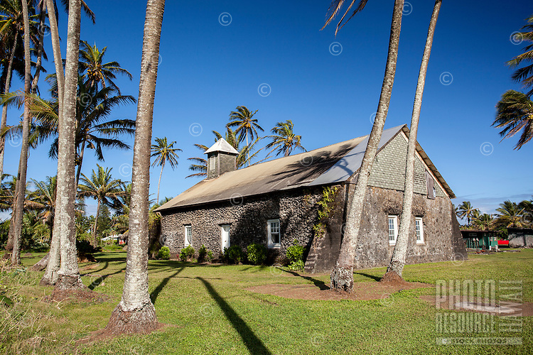 Ke'anae Congregational Church, built in 1860, Ke'anae Peninsula, on the way to Hana, Maui.