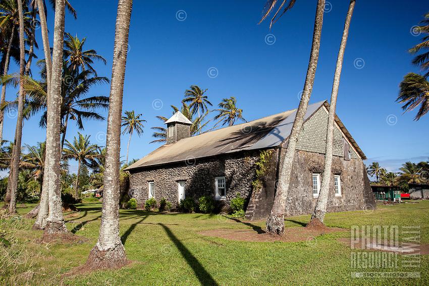 Ke'anae Congregational Church, built in 1860, Ke'anae Peninsula, on the way to Hana, Maui.