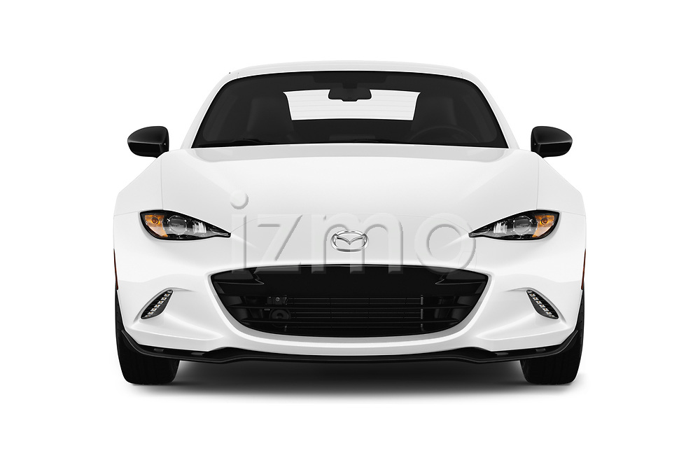 Car photography straight front view of a 2019 Mazda MX-5 RF Club 2 Door Convertible