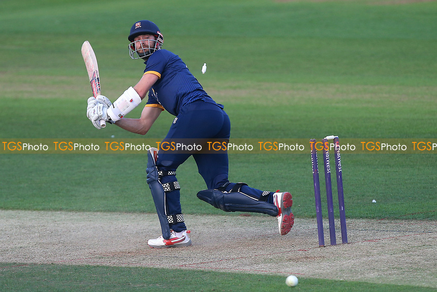 James Foster of Essex is bowled out by Mervyn Westfield during Essex Eagles vs Premier Leagues XI, T20 Friendly Match Cricket at The Cloudfm County Ground on 4th July 2017