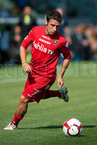 27th SEPTEMBER 2009: Andrea Cossu (Cagliari) - Football : Italian 'Serie A' match between Parma and Cagliari at the Stadio Ennio Tardini  in Parma, Italy. (Photo by Enrico Calderoni/ActionPlus). UK Licenses Only