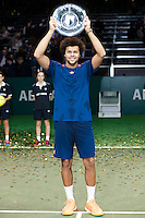 ABN AMRO World Tennis Tournament, Rotterdam, The Netherlands, 19 Februari, 2017, Jo-Wilfried Tsonga (FRA)<br /> Photo: Henk Koster