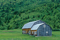 Old barn  on Gaspe Peninsula<br /> Manche-d'Épée<br /> Quebec<br /> Canada