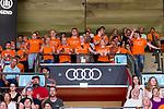 02.06.2019, Audi Dome, Muenchen, GER, BBL Playoff Halbfinale , FC Bayern Muenchen vs. SC Rasta Vechta<br /> , im Bild die Vechtaer Fans machen Stimmung<br /> <br />  Foto © nordphoto / Straubmeier