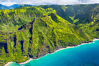 Hanakapiai Beach, Hanakapiai Valley, Na Pali Coast, Kauai, Hawaii, USA, Pacific Ocean