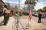 "Last open house and lowering of the U.S. flag at Preston Youth Correctional Facility, Ione, Calif., in anticipation of ""cold"" closure, June 30, 2011 after 117 years of state service."