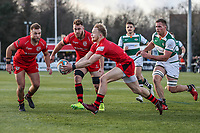 Will HOMER of Jersey Reds collects the ball during the Greene King IPA Championship match between Ealing Trailfinders and Jersey Reds at Castle Bar , West Ealing , England  on 22 December 2018. Photo by David Horn.