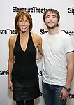 Carolyn McCormick and son attends the Off-Broadway Opening Night of the Signature Theatre's 'Thom Pain' at the Signature Theatre on November 11, 2018 in New York City.