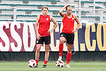 17 May 2011: Sinead Farrelly (left) and Whitney Engen (right). The United States Women's National Team held a training session at WakeMed Stadium in Cary, North Carolina as part of their preparations for the 2011 Women's World Cup.