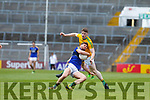 Éanna Ó Conchúir of Kerry in action against Alan Armstrong of Kerry.  All Ireland Junior Championship Semi-Final, Kerry V Leitrim. 22/07/2017. Gaelic Grounds, Limerick, Co Limerick. Credit: Conor Wyse