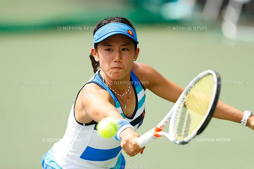 Miyu Kato (JPN), <br /> SEPTEMBER 11, 2017 - Tennis : <br /> Japan Women's Open Tennis 2017 <br /> match between <br /> Miyu Kato - Magdalena Frech <br /> at Ariake Tennis Park in Tokyo, Japan. <br /> (Photo by Yohei Osada/AFLO)