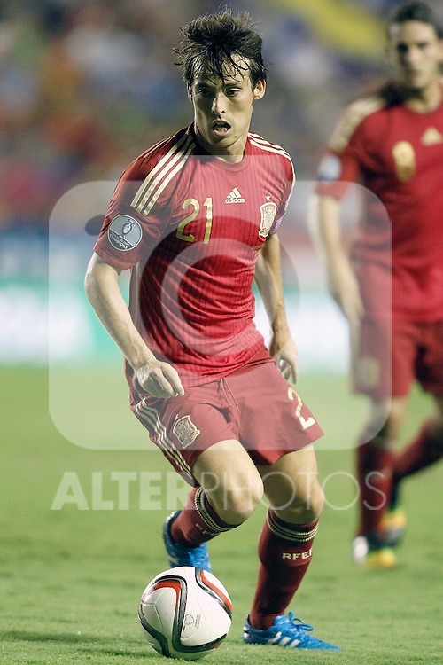Spain's David Jimenez Silva during 15th UEFA European Championship Qualifying Round match. September 8,2014.(ALTERPHOTOS/Acero)