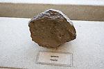 Ignimbrite rock sample geology display, Casa de los Volcanes volcanic study centre, Lanzarote, Canary island, Spain