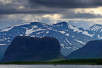 Nammatj hill in the famous Rapa river delta, Sarek National Park, Laponia UNESCO World Heritage Site, Greater Laponia rewilding area, Lapland, Norrbotten, Sweden