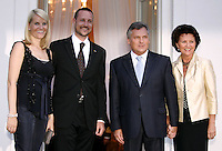Crown Prince Haakon & Crown Princess Mette-Marit of Norway's three-day visit to Poland..Dinner at the Presidential Palace with HE The President of the Republic of Poland & Mrs Jolanta Kwasniewska.