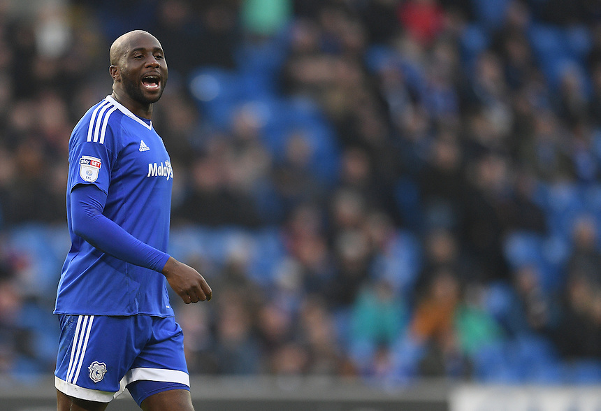 Cardiff City's Sol Bamba in action<br /> <br /> Photographer Ashley Crowden/CameraSport<br /> <br /> The EFL Sky Bet Championship - Cardiff City v Rotherham United - Saturday 18th February 2017 - Cardiff City Stadium - Cardiff<br /> <br /> World Copyright &copy; 2017 CameraSport. All rights reserved. 43 Linden Ave. Countesthorpe. Leicester. England. LE8 5PG - Tel: +44 (0) 116 277 4147 - admin@camerasport.com - www.camerasport.com