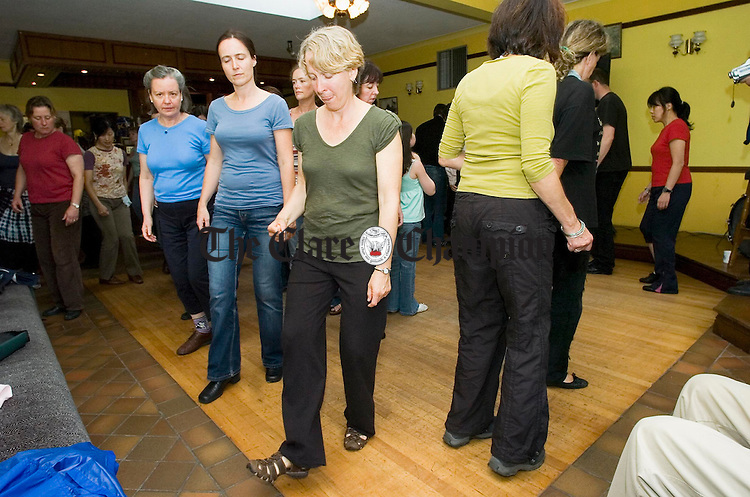 Stepping it out in a dance class in Bohan's during the Feakle Festival. Photograph by John Kelly.