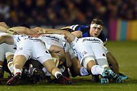 Tom Ellis of Bath Rugby looks on at a scrum. Aviva Premiership match, between Bath Rugby and Exeter Chiefs on March 23, 2018 at the Recreation Ground in Bath, England. Photo by: Patrick Khachfe / Onside Images