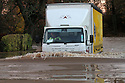 21/11/12 ..A lorry driver braves deep flood water outside Kenilworth Castle, in Warwickshire today. today...All Rights Reserved - F Stop Press.  www.fstoppress.com. Tel: +44 (0)1335 300098.