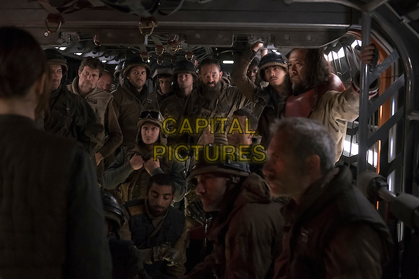 Rogue One: A Star Wars Story (2016)<br /> Rebellion soldiers including Chirrut Imwe (Donnie Yen) and Baze Malbus (Jiang Wen)<br /> *Filmstill - Editorial Use Only*<br /> CAP/KFS<br /> Image supplied by Capital Pictures