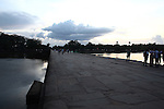 The causeway at sunset. Angkor Wat, Cambodia. June 9, 2013.