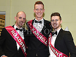 Bobby Rice, Evan Farrell and Niall Eccles pictured at the launch of Strictly Come Dancing at the movies in St. Mary's clubrooms Ardee. Photo:Colin Bell/pressphotos.ie