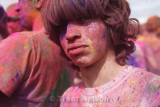 Holi Festival of Colors at Hare Krishna temple in Spanish Fork, Utah, Sunday, March 27, 2011. ed zambrano