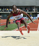 12 JUNE 2010: Madanha Chibudu of Florida State gets set to land in the pit as he takes a jump in the Mens long jump during the Division I Men's and Women's Track and Field Championship held at Hayward Field on the University of Oregon campus in Eugene, OR.  Steve Dykes/NCAA Photos