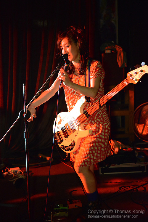 Kaohsiung, Taiwan -- Japanese girl duo ZARIGANI DOLLAR from Tokyo perform live at the Rocks on May 10, 2014, as part of the 'Noise Explosion Tour'.<br /> <br /> The world that these girls create is off the wall and amazing. They have toured all over South East Asia with their act.