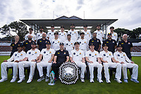 The Wellington Firebirds celebrate winning the 2019-2020 Plunket Shield and T20 Trophies at Basin Reserve in Wellington, New Zealand on Thursday, 19 March 2020. Photo: Dave Lintott / lintottphoto.co.nz