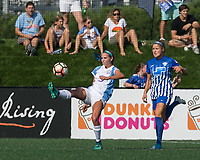 Boston, MA - Saturday August 19, 2017: Dani Weatherholt during a regular season National Women's Soccer League (NWSL) match between the Boston Breakers (blue) and the Orlando Pride (white/light blue) at Jordan Field. Orlando Pride defeated Boston Breakers, 2-1.