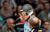 Australia's Anna Meares at the 2014 Oceania Track Championships, Sit Zero Fees Velodrome, Invercargill, New Zealand, Friday, November 22, 2013. Photo: Dianne Manson / NINZ