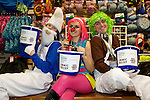 Pix: Shaun Flannery/shaunflanneryphotography.com...COPYRIGHT PICTURE>>SHAUN FLANNERY>01302-570814>>07778315553>>..19th March 2011...............Lakeside Village, Doncaster..Comic Relief Event..L-R Matt Rush, Maddy Higgins, Mark Mewse of Mountain Warehouse.