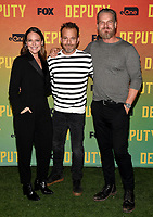 """LOS ANGELES, CA - NOVEMBER 18: Yara Martinez, Stephen Dorff, and Brian Van Holt attend the advanced screening for Fox's """"Deputy"""" at James Blakeley Theater on the Fox Studio Lot on November 18, 2019 in Los Angeles, California. on November 13, 2019 in Los Angeles, California. (Photo by Frank Micelotta/Fox/PictureGroup)"""