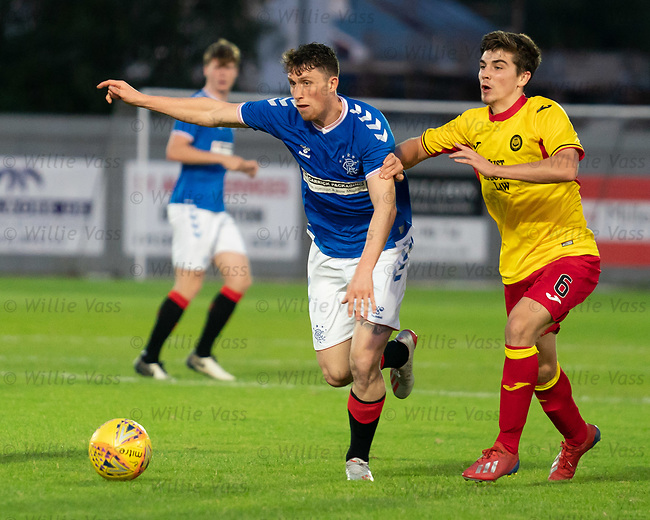 26.08.2019 Rangers Colts v Partick Thistle: Jamie Barjonas and Cammy Palmer