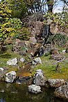 WATERFALL AT JAPANESE GARDEN, GOLDEN GATE PARK, SAN FRANCISCO