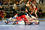 CLEVELAND, OH - MARCH 16: Jason Nolf, of Penn State, wrestles Micah Jordan, of Ohio State, in the 157 weight class during the Division I Men's Wrestling Championship held at Quicken Loans Arena on March 16, 2018 in Cleveland, Ohio. (Photo by Jay LaPrete/NCAA Photos via Getty Images)