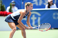 Washington, DC - August 4, 2019: Camila Giorgi (ITA) waits for the serve from Jessica Pegula (USA) NOT PICTURED during the WTA Citi Open Woman's Finals at Rock Creek Tennis Center, in Washington D.C. (Photo by Philip Peters/Media Images International)