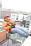 who abseiled off the roof of the D Hotel to raise money for Drogheda Animal Rescue...Picture Jenny Matthews/Newsfile.ie