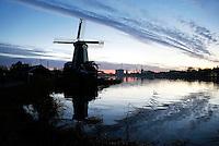 Nederland  Zaandam Zaanse Schans 2016. Molens aan de Zaan. De Gekroonde Poelenburg.  Foto Berlinda van Dam / Hollandse Hoogte