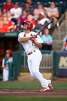 Springfield Cardinals outfielder Breyvic Valera (15) at bat during a game against the Frisco RoughRiders  on June 4, 2015 at Hammons Field in Springfield, Missouri.  Frisco defeated Springfield 8-7.  (Mike Janes/Four Seam Images)