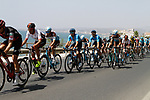 The peloton leave the coast after the start of Stage 4 of the La Vuelta 2018, running 162km from Velez-Malaga to Alfacar, Sierra de la Alfaguara, Andalucia, Spain. 28th August 2018.<br /> Picture: Colin Flockton   Cyclefile<br /> <br /> <br /> All photos usage must carry mandatory copyright credit (&copy; Cyclefile   Colin Flockton)